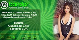 Bonus Cashback 2x Judi AduQ Online QBandars.net - www.Sakong2018.com