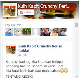 Facebook kuih kapit crunchy