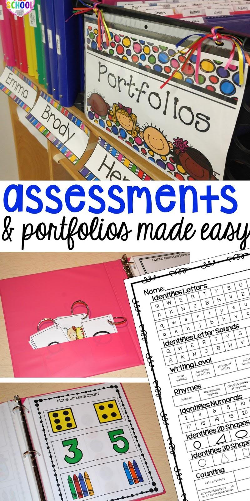 Portfolios Amp Assessments Pocket Of Preschool