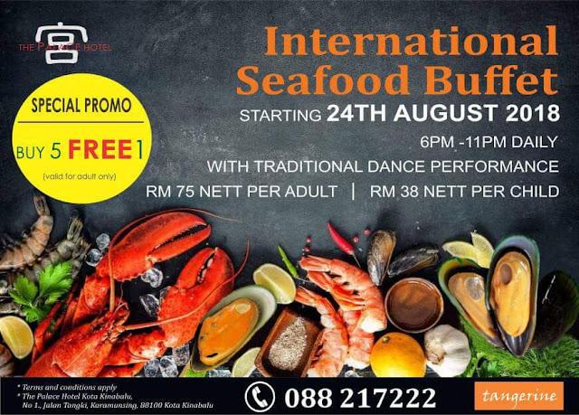 International Seafood Buffet di The Palace Hotel Kota Kinabalu