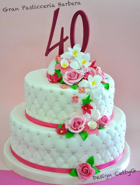 Famoso Le torte decorate di Cetty G: 40 Anni UM91