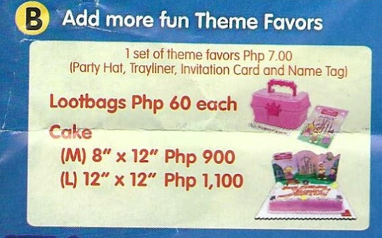 Jollibee Party Theme Favors