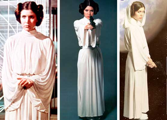 Princesa Leia figurino Star Wars