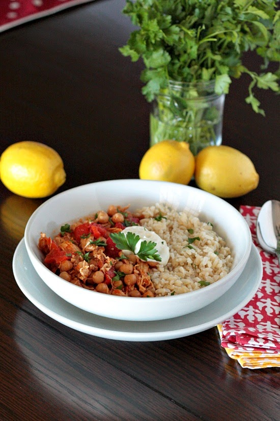 lebanese chicken chickpea stew