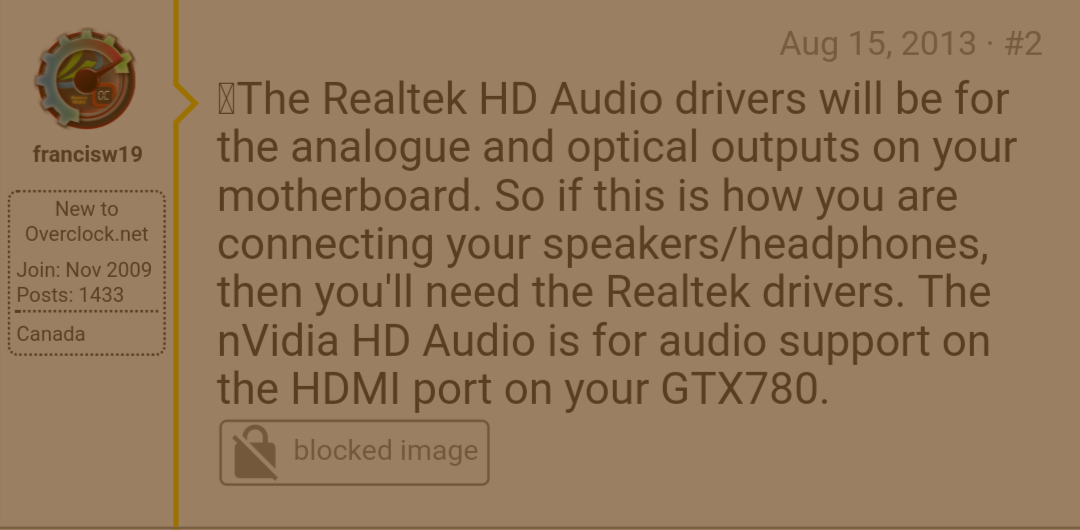 nvidia hd audio driver vs realtek