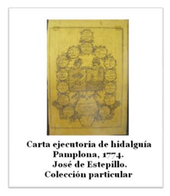 antigua carta ejecutoria de hidalguía