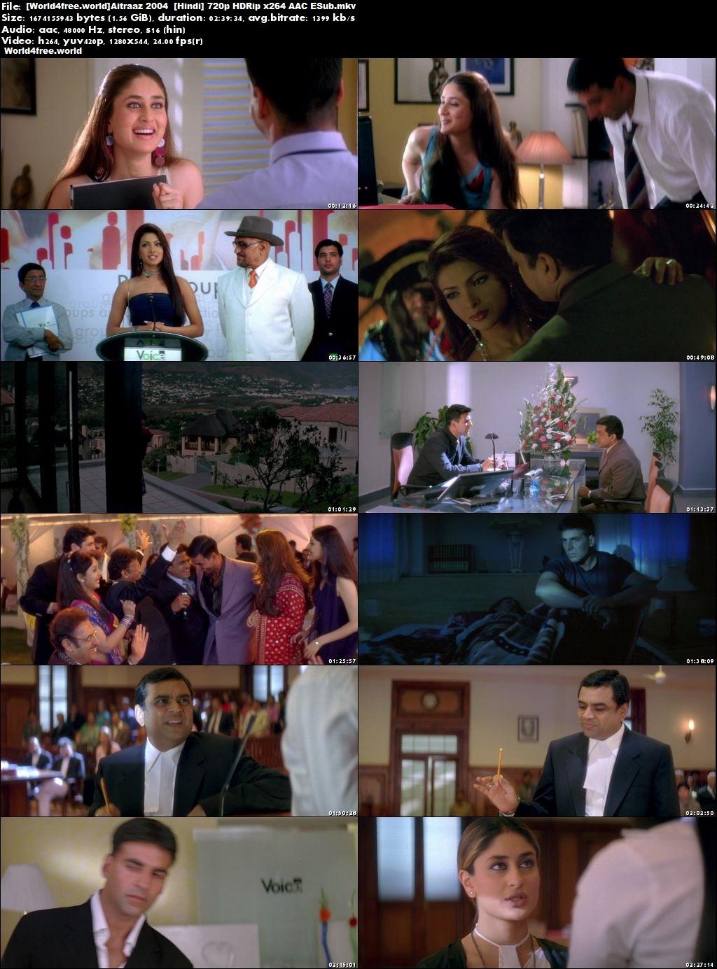 Screen Shoot of Aitraaz 2004 Full Hindi Movie Download HD 720p ESub