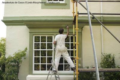 Trabajo de pintura exterior profesional