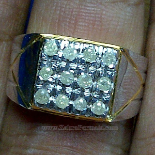 Cincin Pria Berlian Banjar Asli - ZP 1056