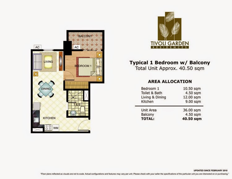 Tivoli Garden Residences 1 Bedroom Unit 40.50 sqm
