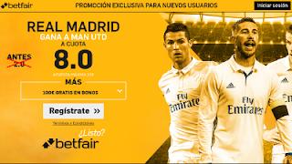 betfair supercuota Real Madrid gana al Man Utd 23 julio