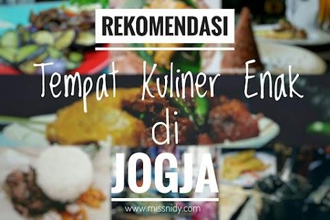 Rekomendasi Tempat Kuliner Enak di Jogja