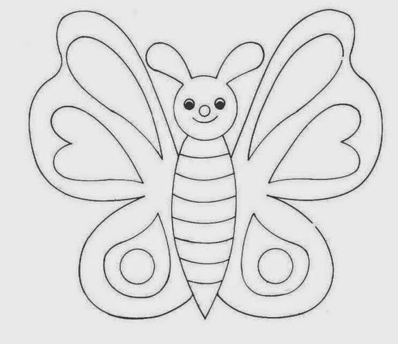 Dibujos Animados Para Colorear De Mariposas Página Para Colorear