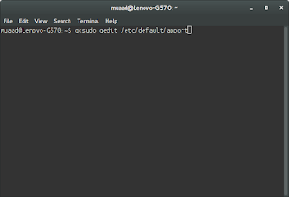 Terminal Window with command