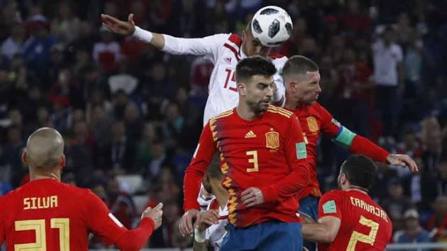 Pertandingan Spanyol vs Maroko