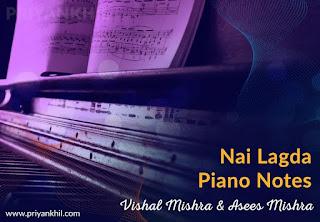 Nai Lagda Notebook Piano Notes