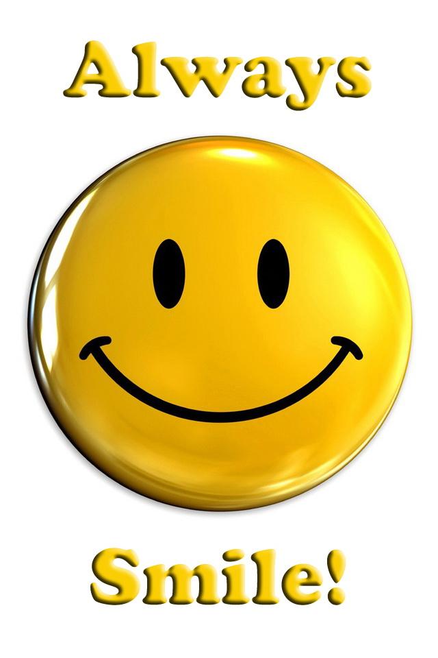 iPhone Always Smile Smiley Wallpaper