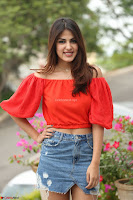 Rhea Chakraborty in Red Crop Top and Denim Shorts Spicy Pics ~  Exclusive 265.JPG