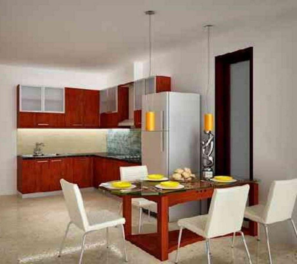 gambar desain dapur ruang makan terbuka idaman