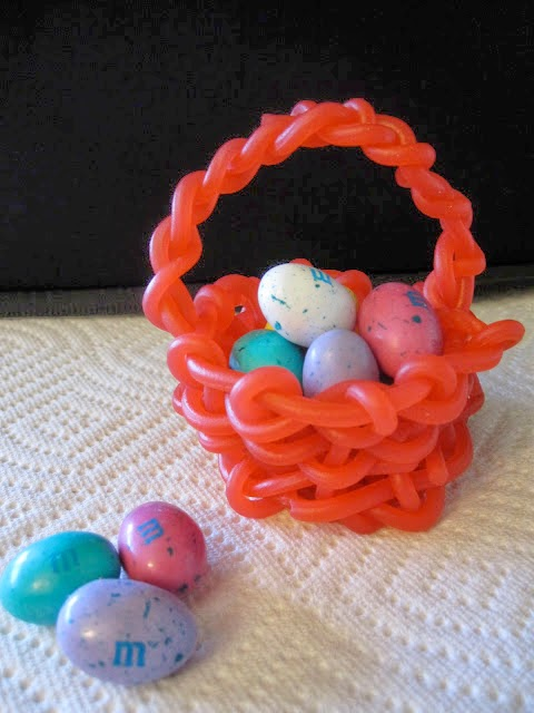 Licorice Weaved Candy Baskets by More Like Martha.