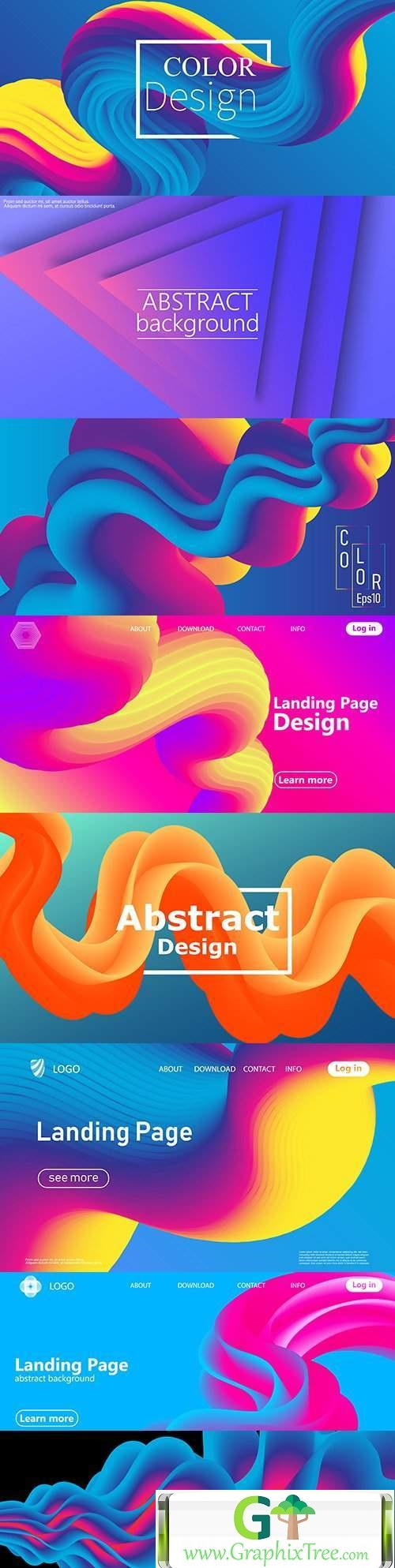 Liquid form abstract flow fashion background