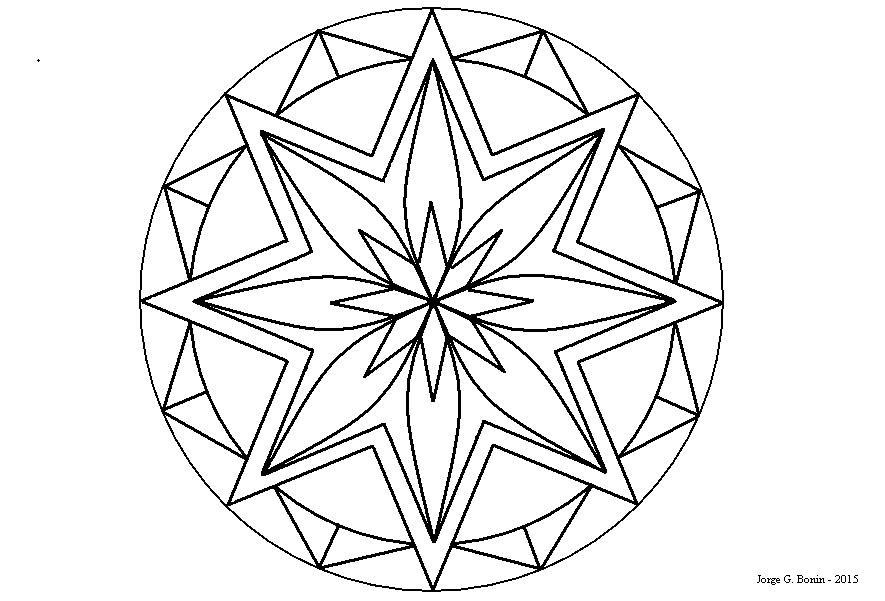 Arte No Paint: Desenho Para Colorir: Rosácea Estrelas