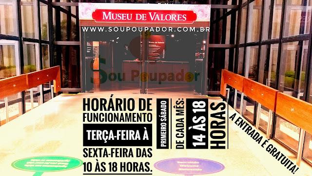 26. Visita ao Museu de Valores do Banco Central do Brasil em Brasília: vista da entrada e horários de funcionamento