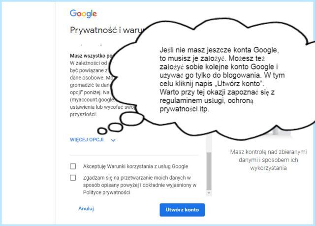 Konto Google — tworzenie, polityka prywatności.