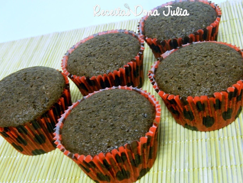 Cupcake de chocolate sem leite, ovos e soja