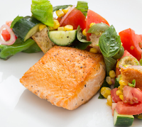 Seared Salmon & Panzanella