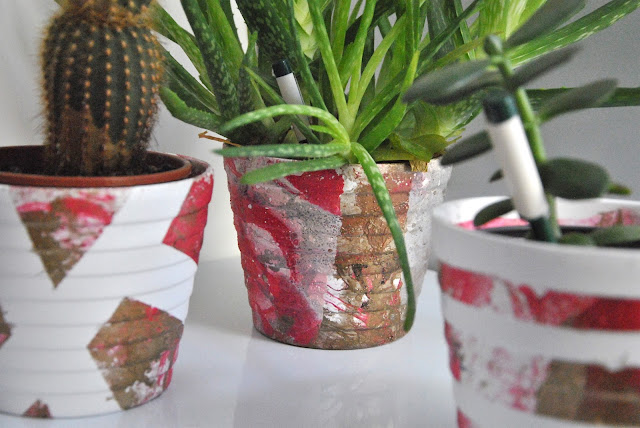 Blumentöpfe in Marmoroptik DIY