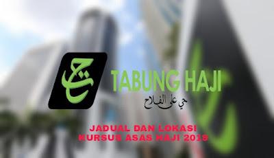 Jadual dan Lokasi Kursus Asas Haji 2019 Seluruh Negeri