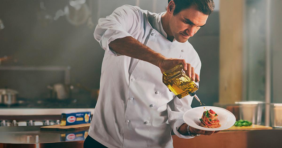 Federer cooking