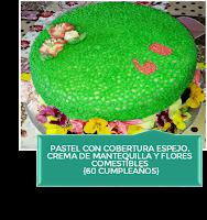 PASTEL 60 CUMPLEAÑOS {CON COBERTURA ESPEJO Y ENCAJE}