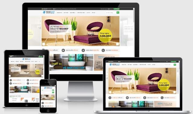 Blog bán hàng online Mega Shop Chuẩn SEO