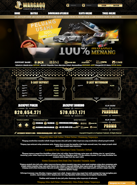 WargaQQ Situs Domino QQ dan Judi Poker Online Nomor Satu di Indonesia