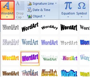 Gaya tulisan, cara membuat tulisan keren di ms word, gambar word art, tutorial ms word,