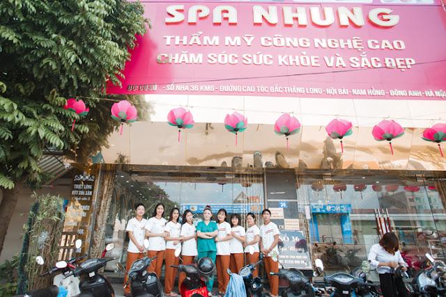 Spa Nhung sử dụng công nghệ tiên tiến nhất tại Hà Thành