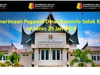 Seleksi Pegawai Dinas Kominfo Solok Kota sd 29 Januari 2018