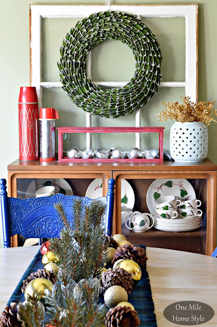 Holiday Tabletop Decor | Christmas Home Tour - One Mile Home Style