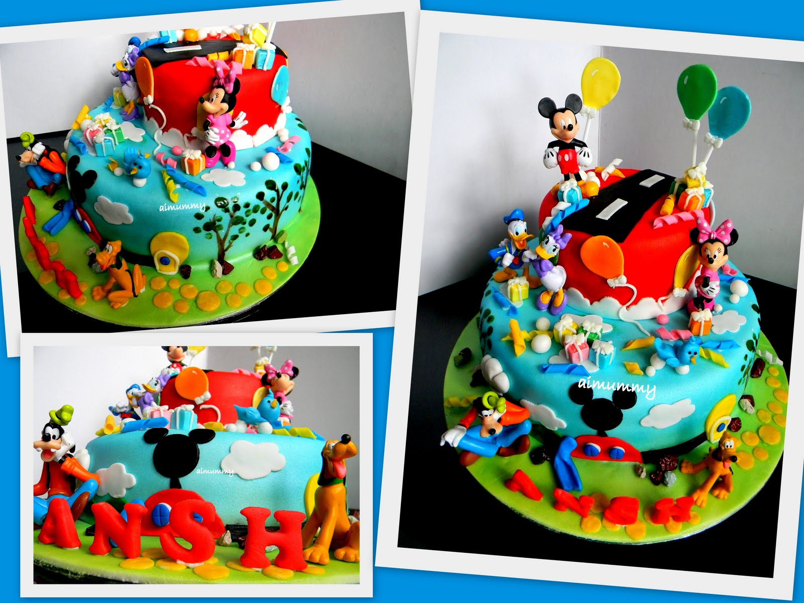 Aimummy Ansh S Mickey Mouse Clubhouse Cake