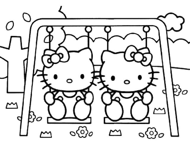 Gambar Mewarnai Hello Kitty - 4