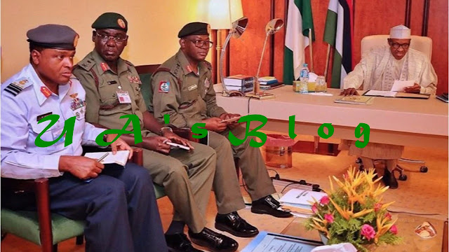 BREAKING: Buhari, service chiefs in secret meeting at Aso Villa