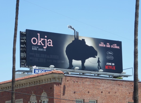 Okja movie billboard