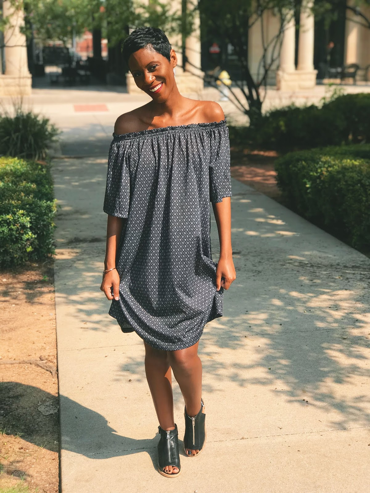 Restyling My Favorite Black Printed Dress Two Different Ways