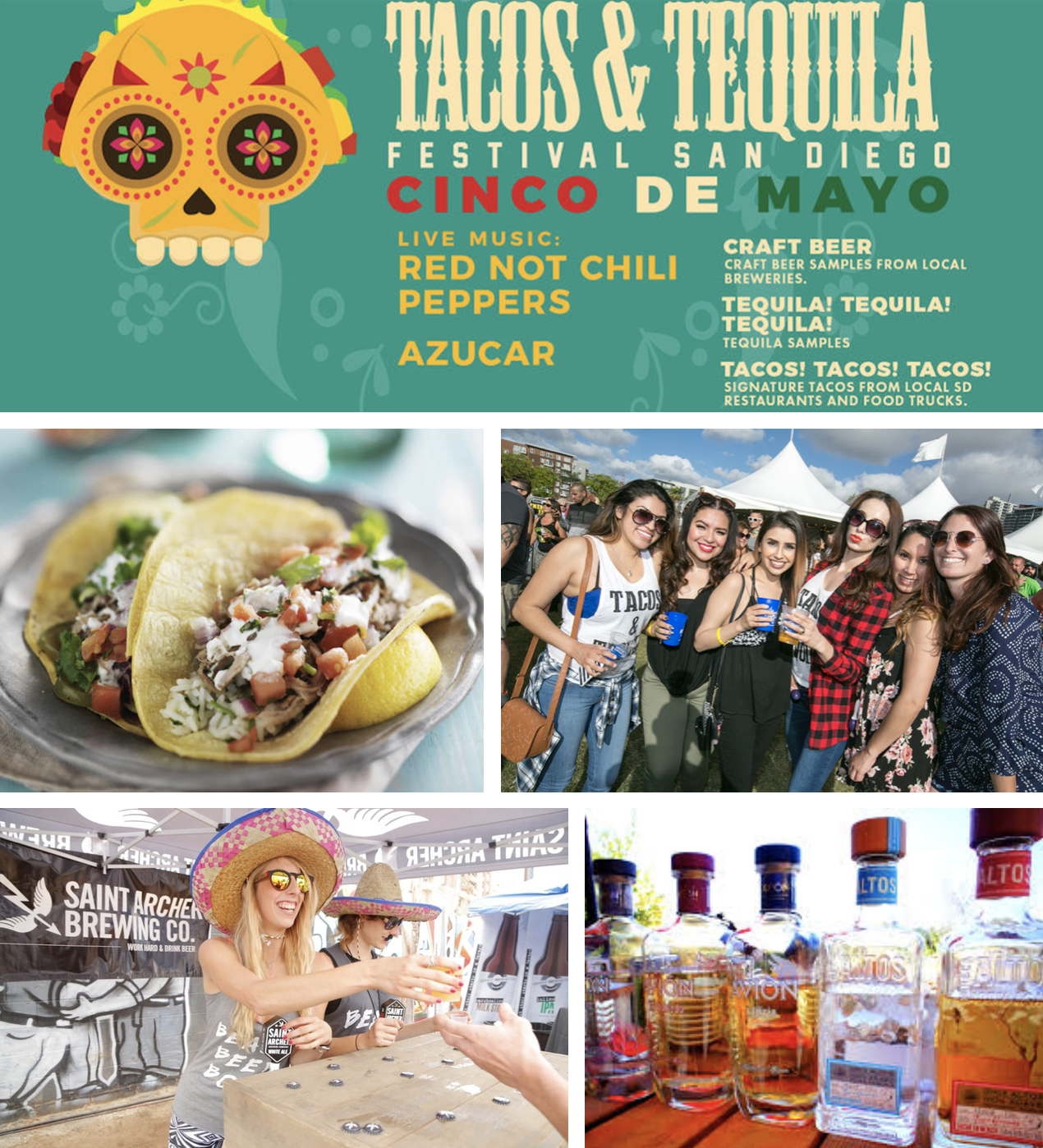 Promo code SDVILLE saves $5 per ticket to the San Diego Tacos & Tequila Festival - May 5!