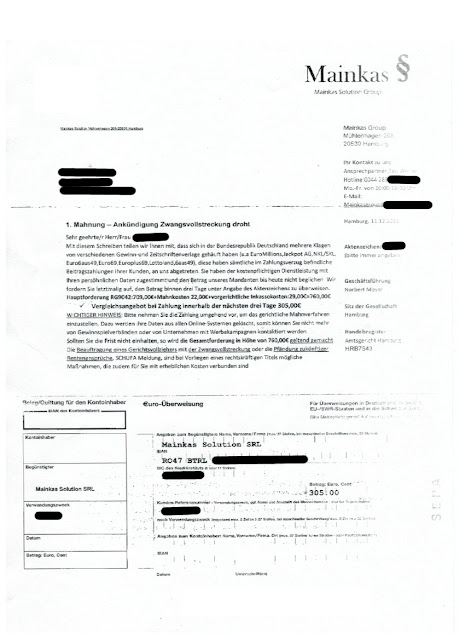 "Scan: Anschreiben ""Mainkas Solution Group"" / Dez 2018"