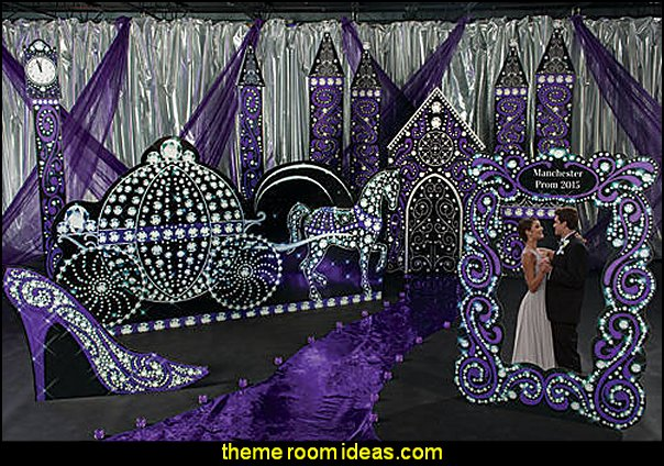 Black and Bling Fairytale Theme Kit party decorations
