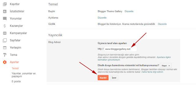 blogspot'da alan adı kullanmak